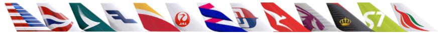 ワンワールド加盟航空会社ロゴ