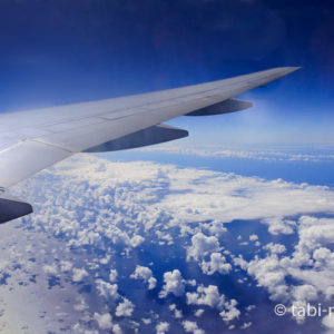 飛行機からの空の景色