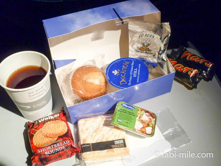 ブリティッシュエアウェイズ機内食おやつ