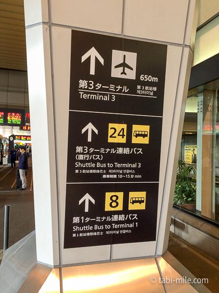 羽田空港第3ターミナル看板