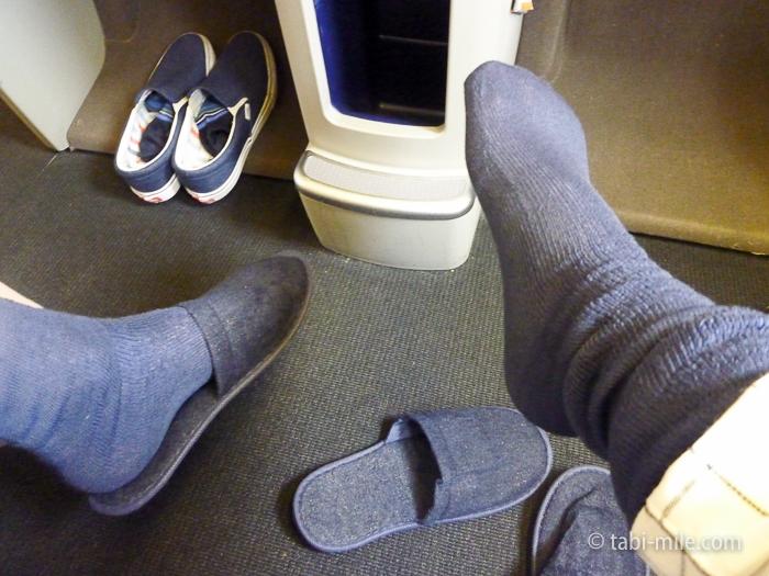 エールフランスビジネスクラス靴下