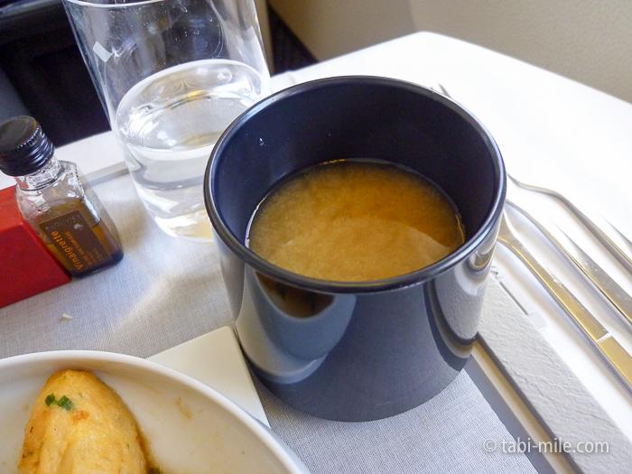 エールフランスビジネスクラス味噌汁