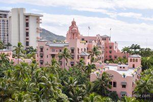 ロイヤルハワイアンホテル太平洋のピンクパレス