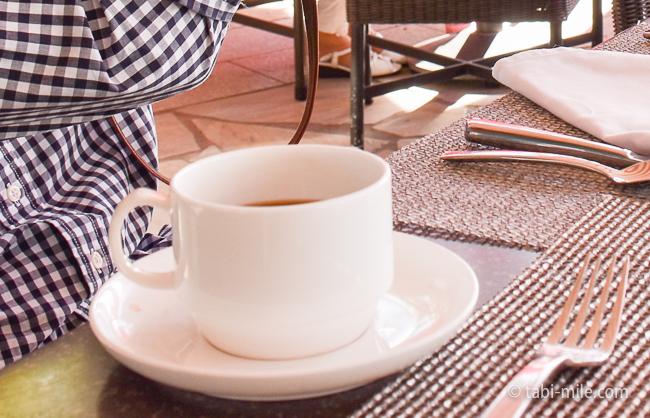 ロイヤルハワイアンホテルサーフラナイ朝食コーヒー