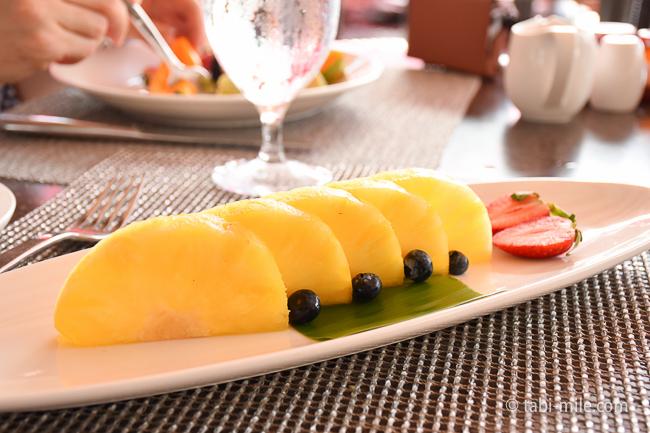 ロイヤルハワイアンホテルサーフラナイ朝食パイナップル