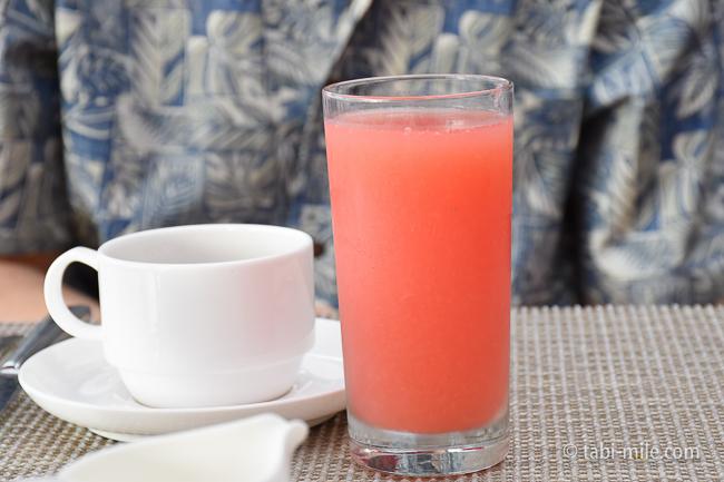ロイヤルハワイアンホテルサーフラナイ朝食グレープフルーツジュース