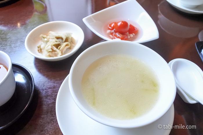 シェラトン都ホテル東京四川トウガンと豚肉のスープ