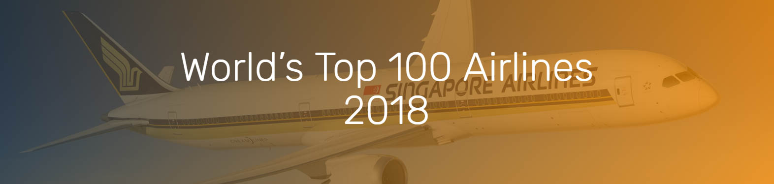 world's Best 100 Airlines for 2018_