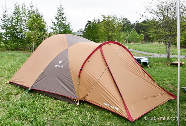 無印良品カンパーニャ嬬恋キャンプ場テントアメニティードームMスノーピーク