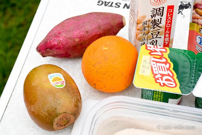 無印良品キャンプ嬬恋朝ごはんフツール芋