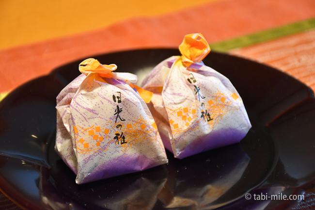 鬼怒川金谷ホテルグレードアップ和室お茶菓子