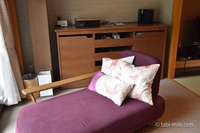 鬼怒川金谷ホテルグレードアップ和室浴室内ソファ