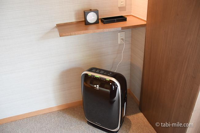 鬼怒川金谷ホテルグレードアップ和室ドリップ空気清浄機