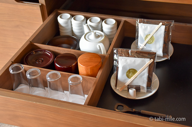 鬼怒川金谷ホテルグレードアップ和室ドリップお茶セット