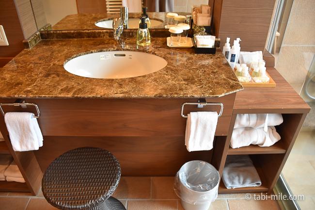 鬼怒川金谷ホテルグレードアップ和室洗面所