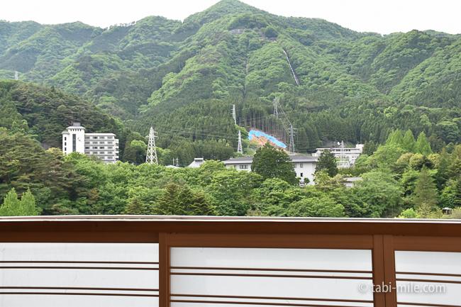 鬼怒川金谷ホテルグレードアップ和室露天風呂昼間