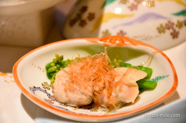鬼怒川金谷ホテル夕食前菜蛤