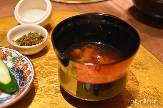 鬼怒川金谷ホテル夕食食事味噌汁