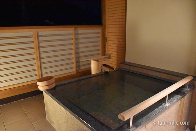 鬼怒川金谷ホテルグレードアップ和室露天風呂夜