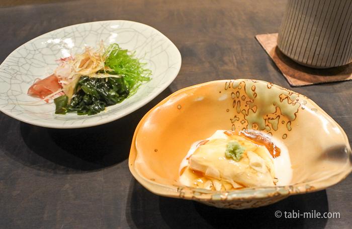 ヒルトン東京レストラン寿司先付サラダ
