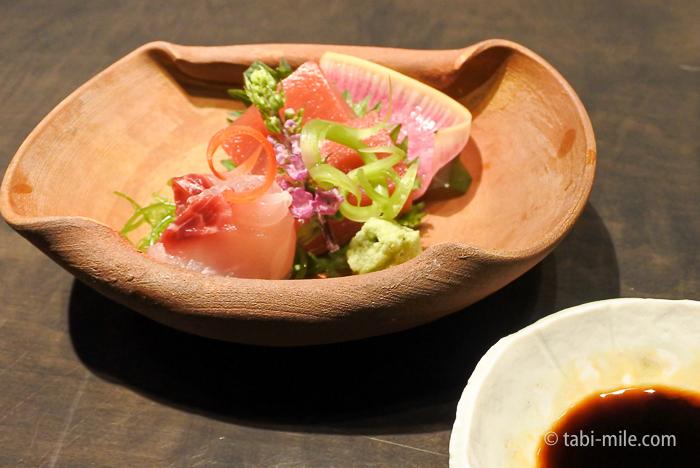 ヒヒルトン東京レストラン寿司お造り二種