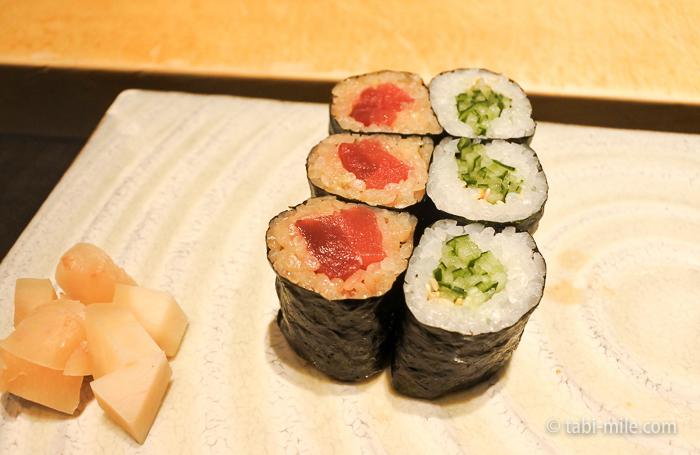 ヒルトン東京レストラン寿司巻物