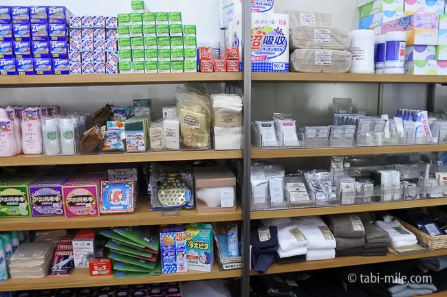 無印良品カンパーニャ嬬恋キャンプ場センターハウス売店キャンプ雑貨