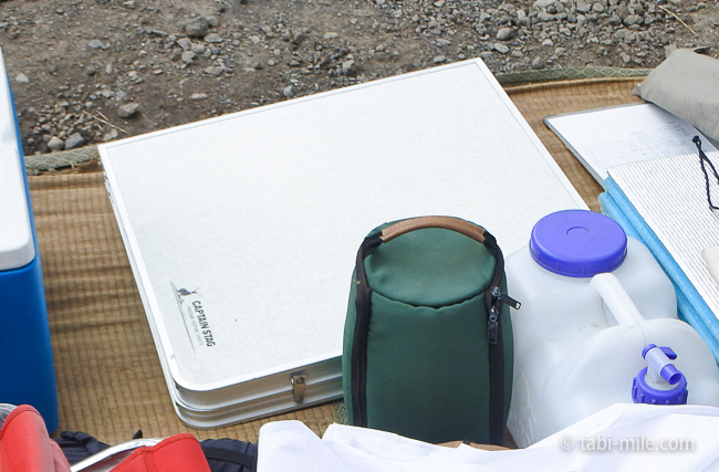 無印良品カンパーニャ嬬恋キャンプ場テーブルキャプテンスタッグ