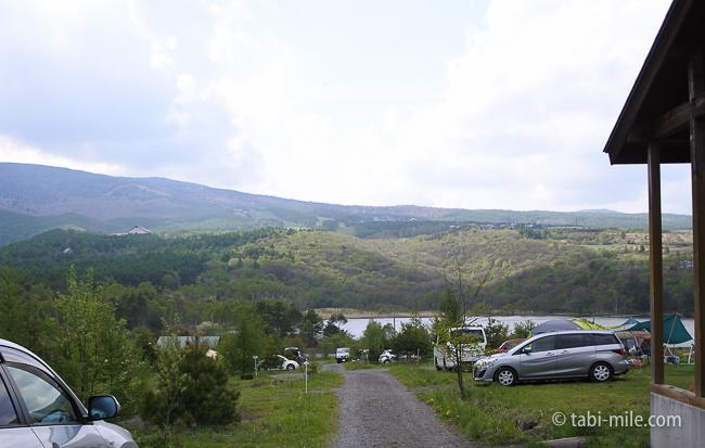無印良品カンパーニャ嬬恋キャンプ場G17サイト景色