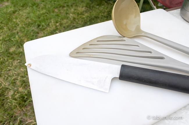 無印良品カンパーニャ嬬恋キャンプ場レンタル包丁まな板お玉ターナー