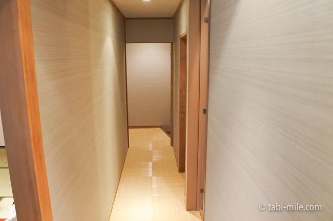 鬼怒川金谷ホテルグレードアップ和室部屋廊下