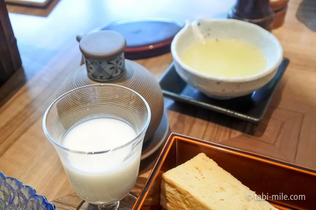 鬼怒川金谷ホテル朝食和食飲むヨーグルト