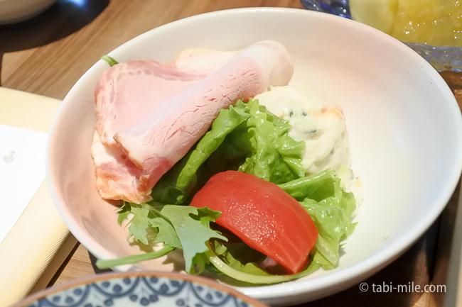 鬼怒川金谷ホテル朝食和食ハムポテトサラダ