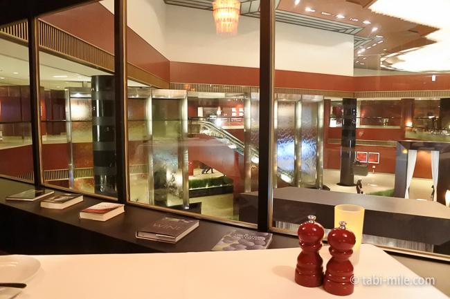 ANAインターコンチネンタルホテル東京ザ・ステーキハウス窓際