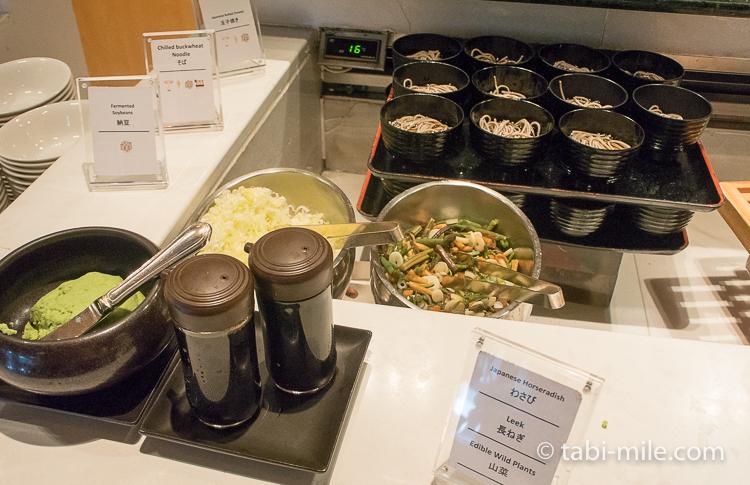 ヒルトン東京ベイ 朝食ブッフェ 和食そば