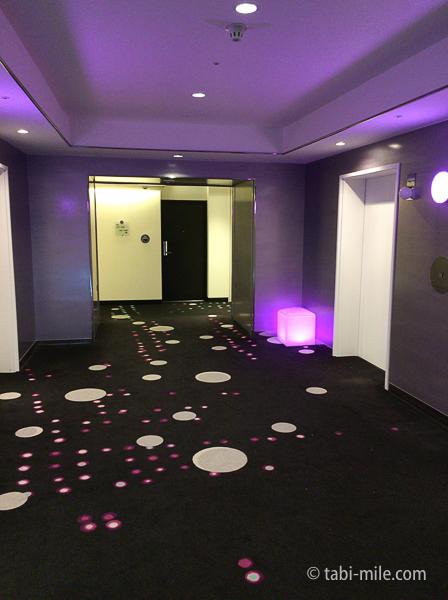 ヒルトン東京ベイ部屋セレブリオ階のエレベーター