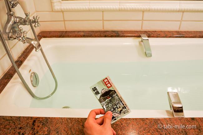 カハラホテル部屋オーシャンビューバスタブ温泉の素