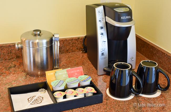 カハラホテル部屋オーシャンビューコーヒーマシーン