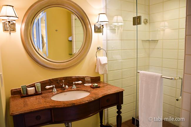 カハラホテル部屋オーシャンビュー洗面台シャワー
