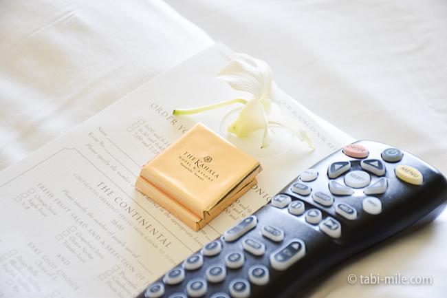 カハラホテル部屋オーシャンビューチョコレート