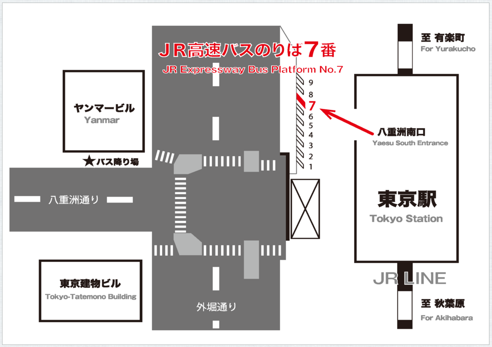 Theアクセス成田東京駅バス停