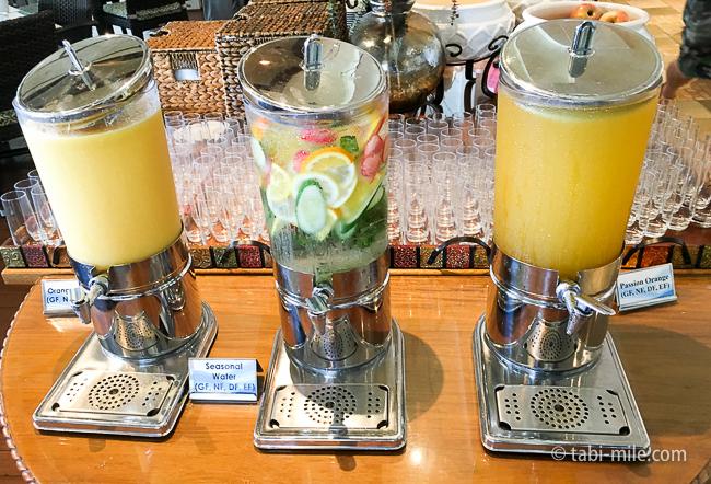 カハラホテル朝食ビュッフェドリンク
