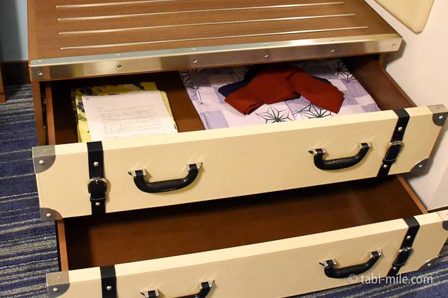 シェラトングランデ東京べイ部屋オーシャンドリームルーム引き出し浴衣