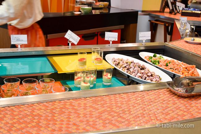 シェラトングランデ東京ベイグランカフェ朝食ビュッフェなす煮浸し