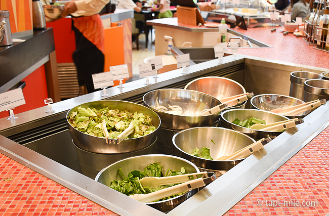 シェラトングランデ東京ベイグランカフェ朝食ビュッフェ生野菜