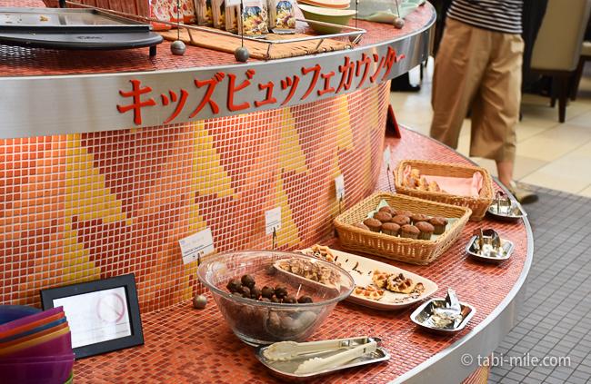 シェラトングランデ東京ベイグランカフェ朝食ビュッフェキッズビュッフェカウンター