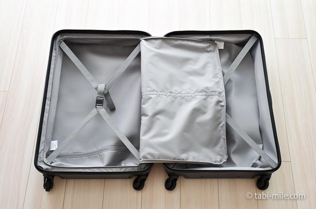 無印良品スーツケース メッシュの中