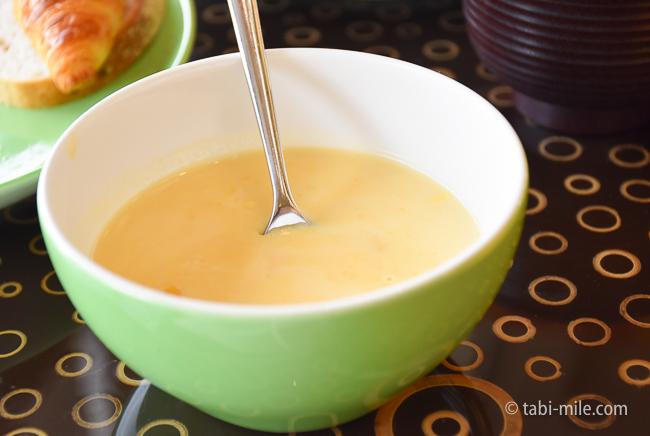 シェラトングランデ東京ベイグランカフェ朝食ビュッフェコーンスープ