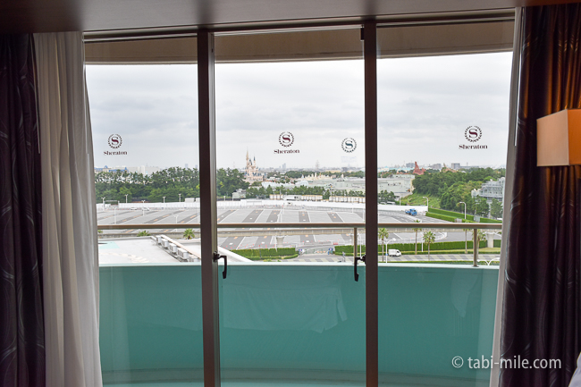 シェラトングランデ東京ベイ部屋オーシャンドリームルーム窓景色