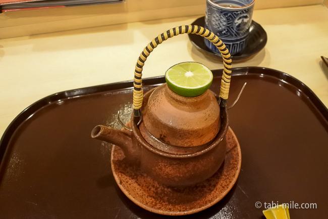 銀座レストランウィーク日本料理和久田松茸の土瓶蒸し